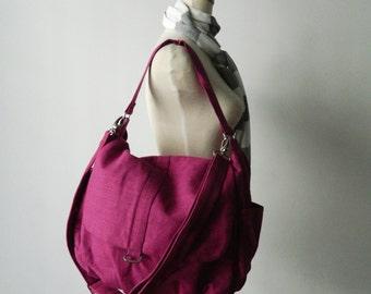Linen Messenger bag /mom shoulder bag/ PLUM PURPLE school bag/cross body /Diaper bag /Handbag /For Her / Women / christmas in July SALE 25%