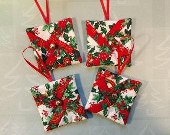 Christmas Ornaments - set of 4 (Xorn33)