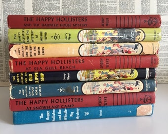 Vintage The Happy Hollisters books lot of 8