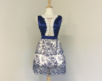 Blue Danube Party Dress-Bridesmaids dress-Prom-custom made dress by CR Boggs