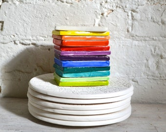 Bundle of 6 small Wobbly Plates - saucers - handmade ceramics - small plates - Wobbly Plates Series