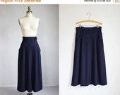 VALENTINES DAY SALE vintage Karl Lagerfeld midnight blue high waisted skirt / m - l