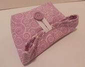 Small Foldover Bag/ Lavender and White