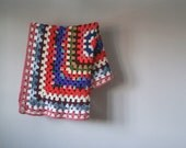 Vintage Crocheted Afghan, Throw Blanket, Hand Made Textile, Blankets and Throws, Home Decor, Home & Living, Baby Blanket