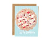 Have Your Pie and Eat it Too Birthday Illustrated Card//1canoe2