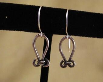 Sterling Silver Wire Loop Earrings
