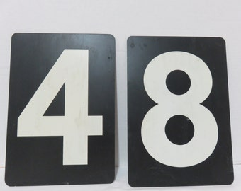 Vintage Metal Scoreboard Number