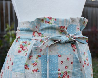 Patchwork Linen Cotton Bistro Apron