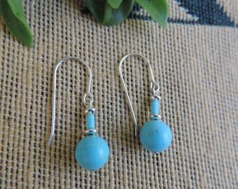 Sterling Silver Turquoise Earrings Southwestern