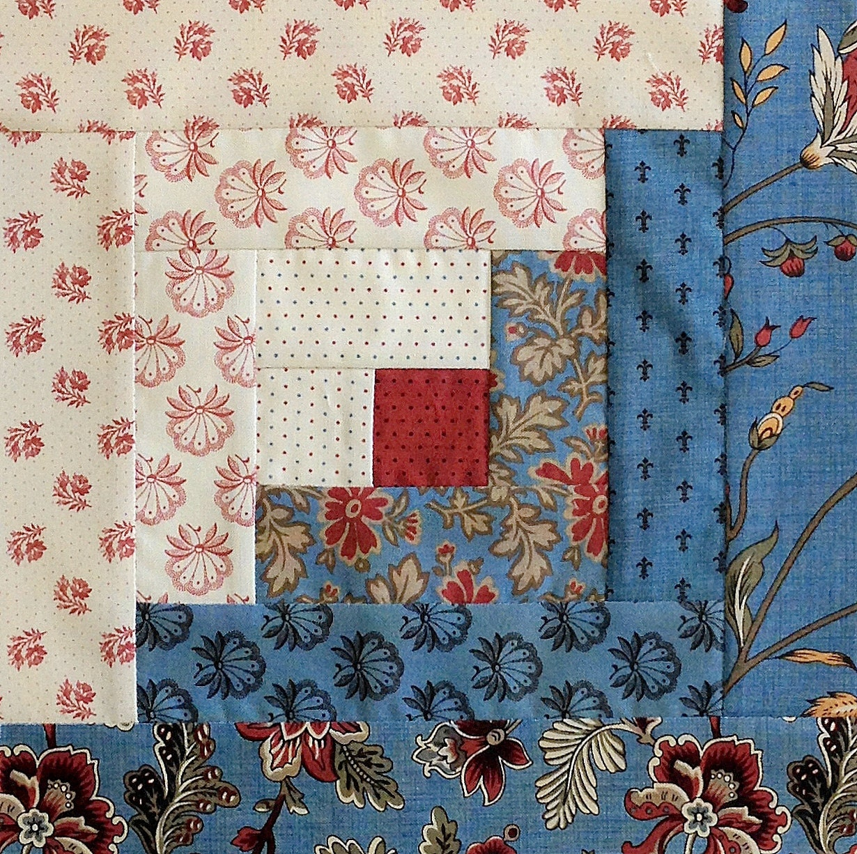 Log Cabin Block Jordan Pre Cut Quilt Kit Moda By Jordanfabrics