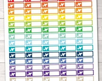 Travel Printable Planner Stickers Airplane Flight Tracking Instant Download Planner Sticker PDF