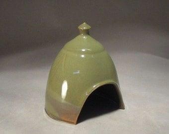 Mini Toad House or Fairy Garden Hut by Jon Whitney Pottery