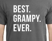 Fathers Day Gift Best Grampy Ever Men's T Shirt Grandpa Gift Husband Gift Dad Shirt New Grandad Wife Gift Funny T-shirt gift Idea