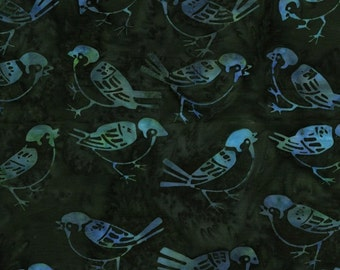 NEW - One fat quarter - Turquoise Birds Batik - IKF13C-C1