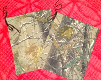 Pair of Camouflage Drawstring Bags from The Farmer's Daughter
