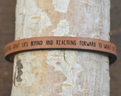 philippians 3:13-14 - adjustable leather bracelet  (additional colors available)