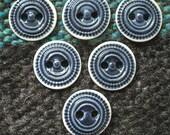 """Ceramic Buttons: 1"""" Navy Cobalt Blue"""