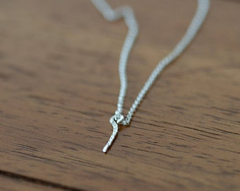 Dainty Personalized Dangle Necklace Sterling Silver (E0604)