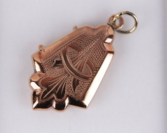 VINTAGE Italian Rose Gold Plated PENDANT For Necklace