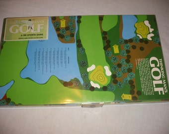 Vintage Thinking Man's Golf Board Game by 3M from 1967 Sporting Sports Game