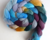 Falkland Wool Roving - Hand Dyed Spinning or Felting Fiber Fiber, Mist Over Sunshine, 4 ounces