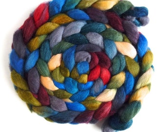 Polwarth/Silk Roving - Handpainted Spinning or Felting Fiber, Best of Both Worlds