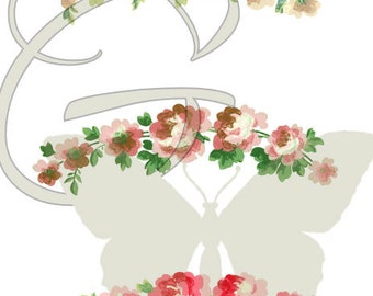 Digital Flower Rose Collage Sheet Vintage Printable Clip Art Image Download