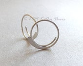 Small Sterling Silver Open Hoops Hammered Silver Hoop Earrings, recycled eco friendly jewelry, choose your size