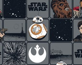 Star Wars The Force Awakens Heros VII Block Fabric By The Yard