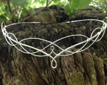 Silver Elven Wedding Circlet