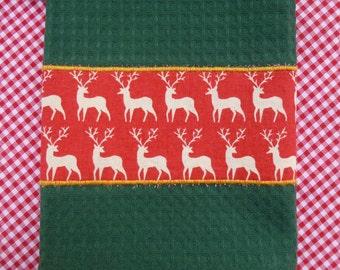 Green Christmas Tea Towel (562)