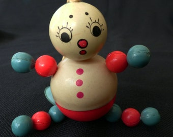 Vintage Celluloid Childs Rattle Doll