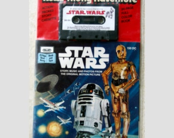 RARE Sealed Star Wars Read Along Book and Cassette Tape