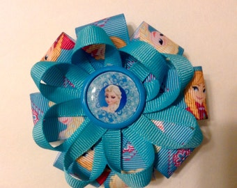 Frozen loopy hair bow