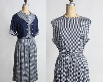 ON SALE Blue Gingham 2pc Dress Jacket