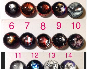 Horror Domes Special Effect Skulls Retro Resin Photo Art Cabochons Jewelry Making Bow Center Phone Case Decoden Mixed Media Beading A2