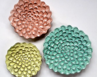 """Wall Flower Set of 3 - """"Cotton Candy"""""""