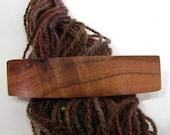 Large Hair Barrette, Hawai'ian Koa, lifetime guarantee, NO GLUE, french hair clip, long thick hair, wooden hair accessory, wood jewelry