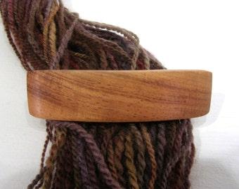 Small Wooden Hair Barrette, Hawaiian Koa, lifetime guarantee, NO GLUE, french hair clip, wood accessory, wooden jewelry, long natural hair