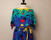 Vintage 1980's Umi Collection Silk Dress Medium