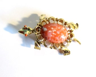 Vintage Turtle Pin or Pendant by Gerrys