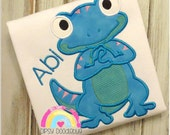 Happy Gecko Shirt - Gecko Shirt-  Cute Gecko Shirt- Gecko - Girls Gecko - Boys Gecko - Blue Gecko - Personalization Available