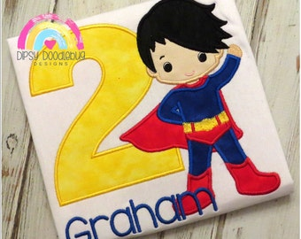 Super Hero  Birthday Shirt- Boys Birthday Shirt-  Super Hero Birthday- Boys Super Hero - Boys Birthday - Personalized Birthday Shirt