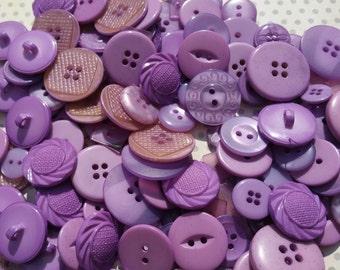 Purple Buttons - Sewing Button - Light Purple Buttons - 100 Buttons - Lavender