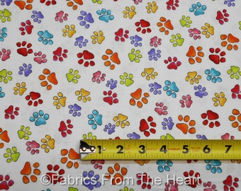 Happy Cats Kittens Paws Footprints on Butter BY YARDS QT Cotton Fabric