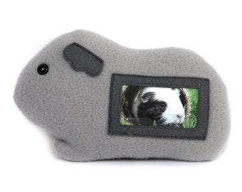 Cavia fotolijst / cavia knuffel / grijze cavia Furry Frame