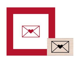 Heart Envelope Rubber Stamp