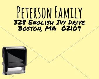 New for 2016 FREE US SHIPPING * Self Inking Return Address Stamp * Custom Address Rubber Stamp (E410)