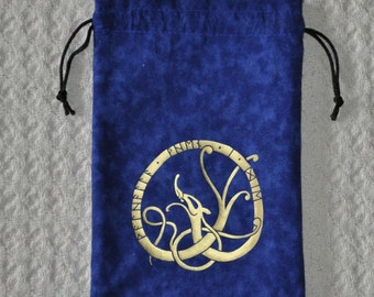 Viking Valhalla When I die rune dice bag