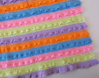 "1/2"" Colorful Ruffle Knit Fabric BTY"